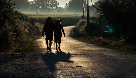 Friends on the Camino de Santiago Morning