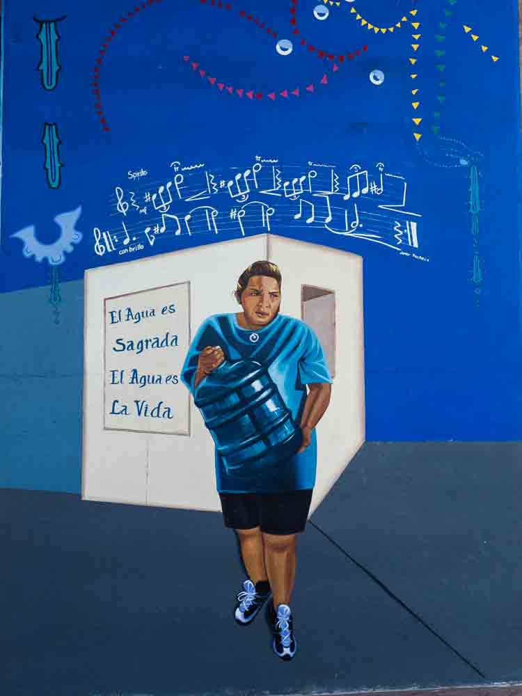 San Diego Chicano Park Mural Sacred Water