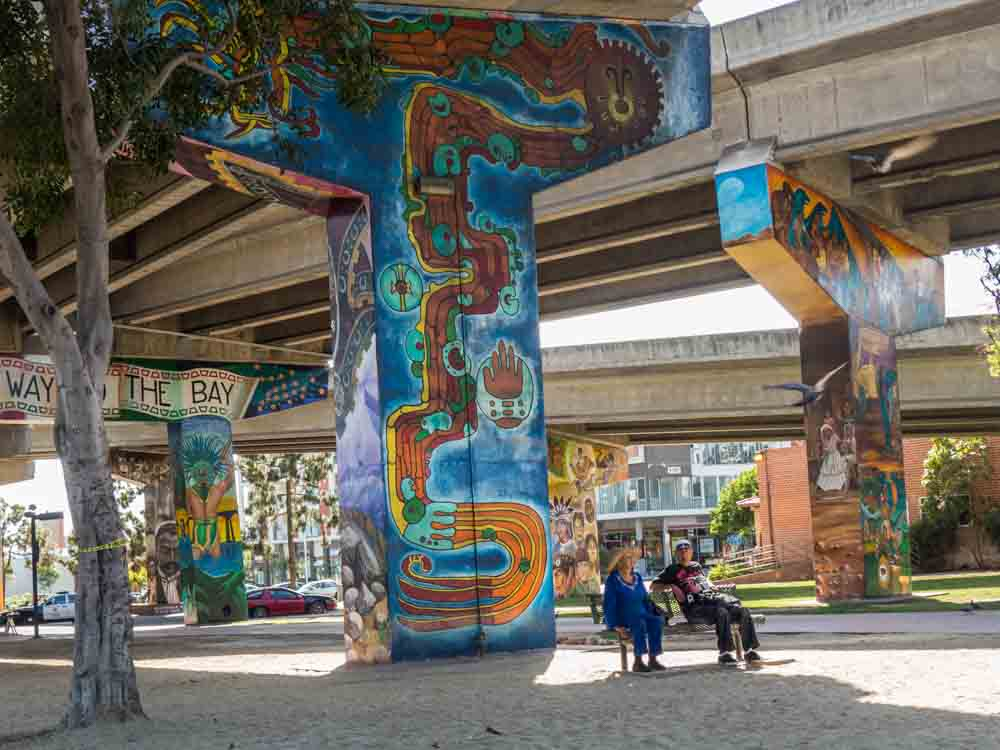 Chicano Park Murals Bench