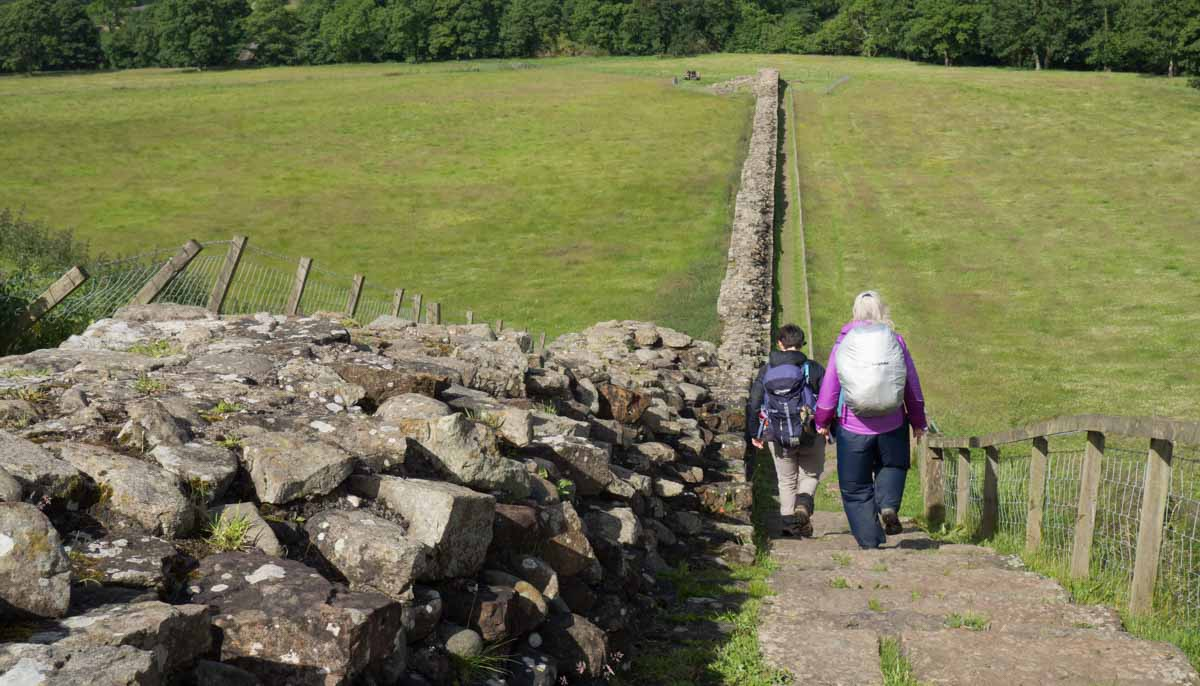 Hadrian's Wall hiking near Birdoswald