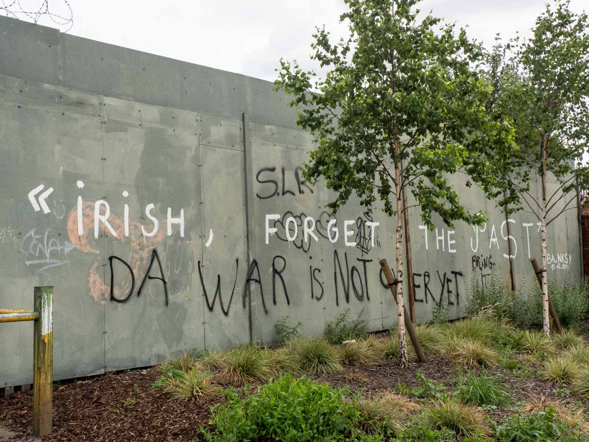 Belfast War Not Over Yet on Belfast Murals tour