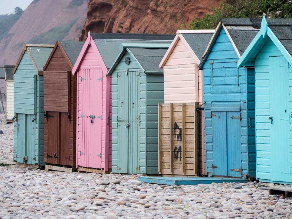 England Exmouth beach huts