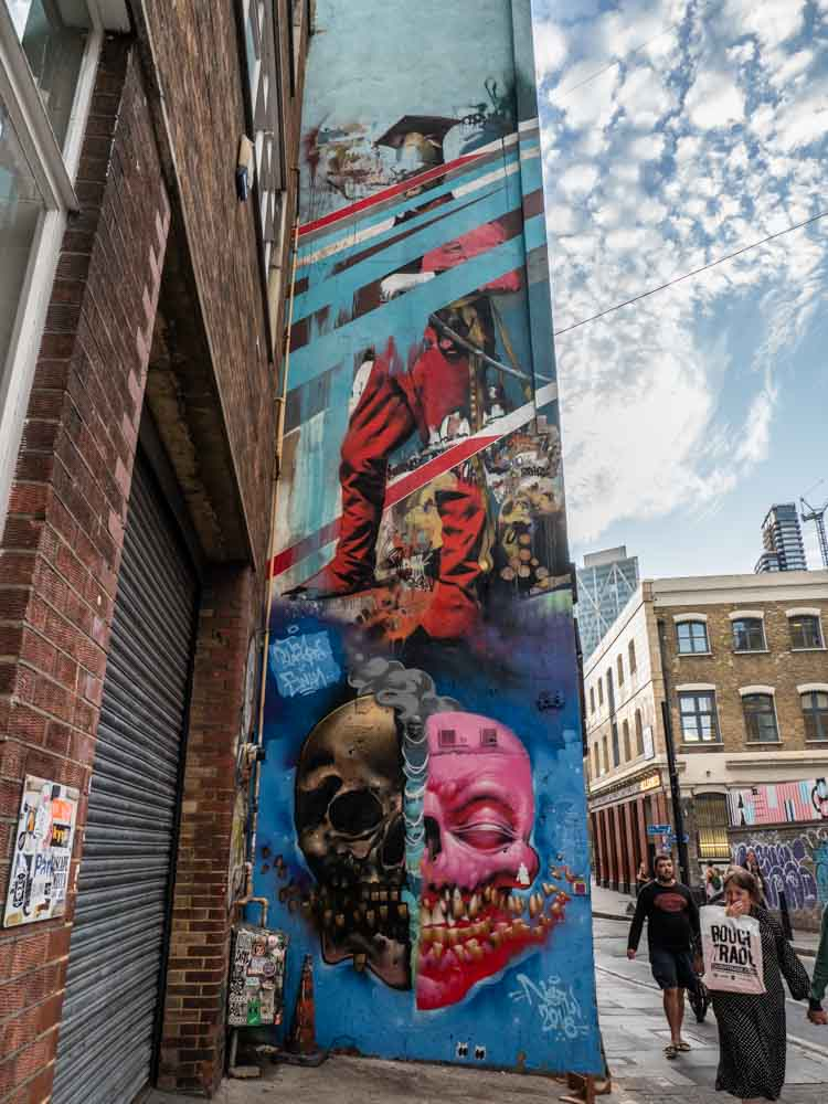 Brick Lane street art piece by Conner Harrington