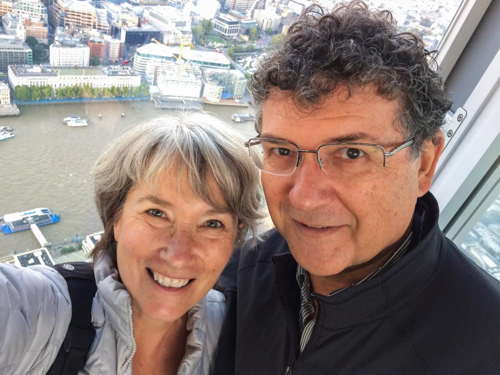 Selfie from the Shard in London