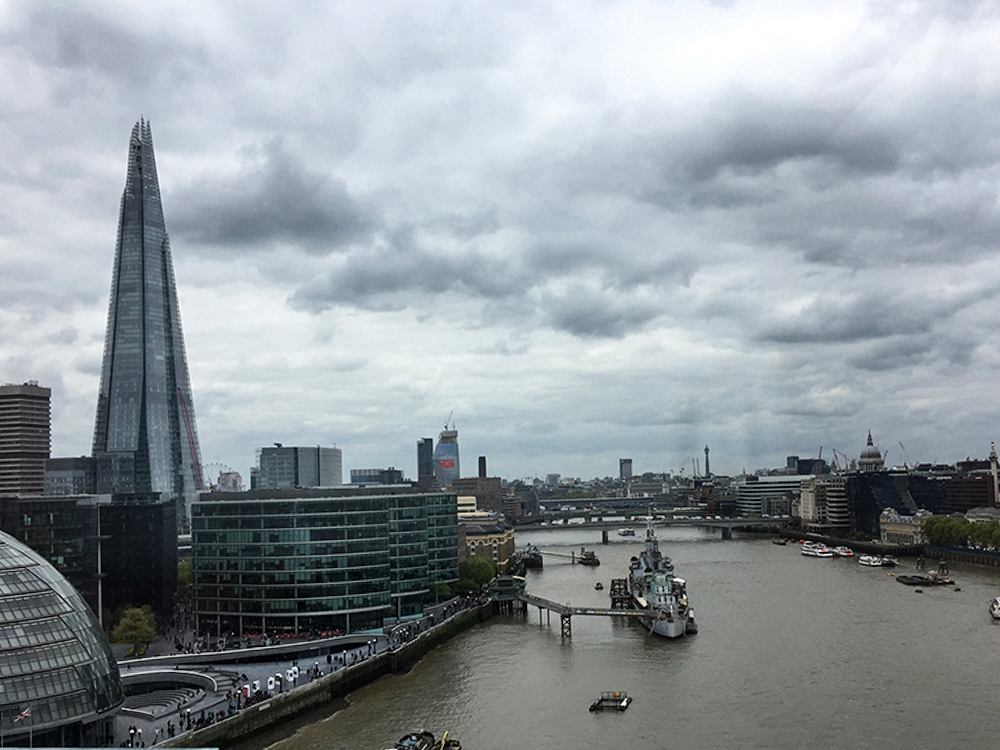 Sky View of London from the Tower Bridge