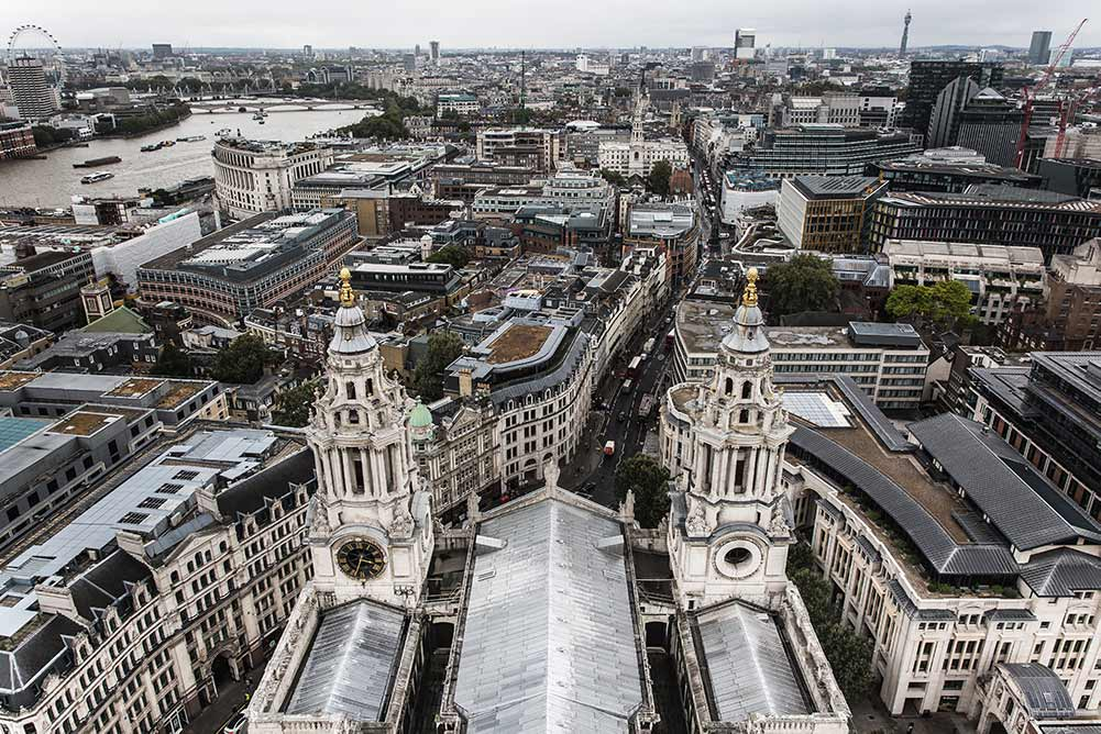 London View from St Paul's Cathedrdal