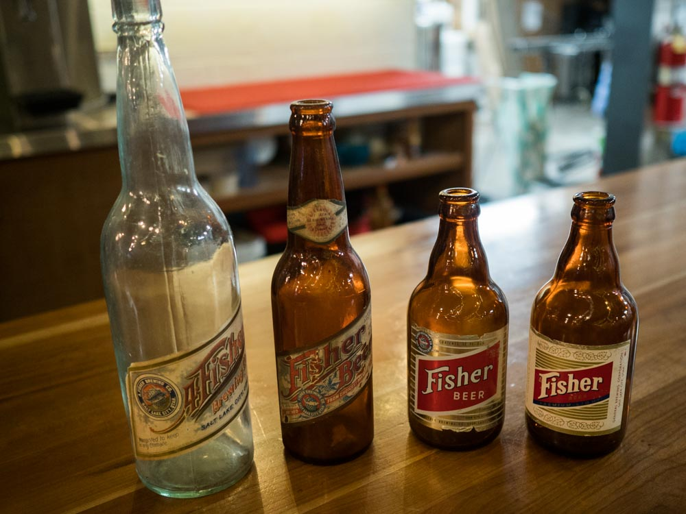 A. Fisher Brewing Antique bottles