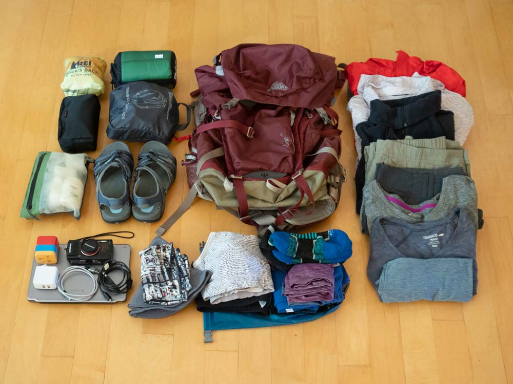 Camino de Santiago packing list- clothes and pack