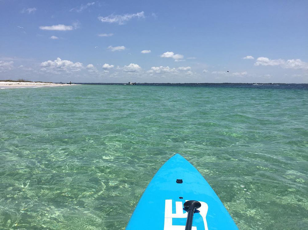 Paddleboarding activities in Panama Beach City Florida