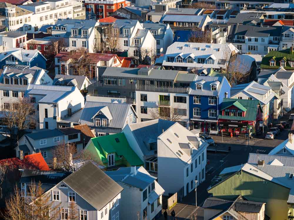 Things to do in Reykjavik Iceland- city from above