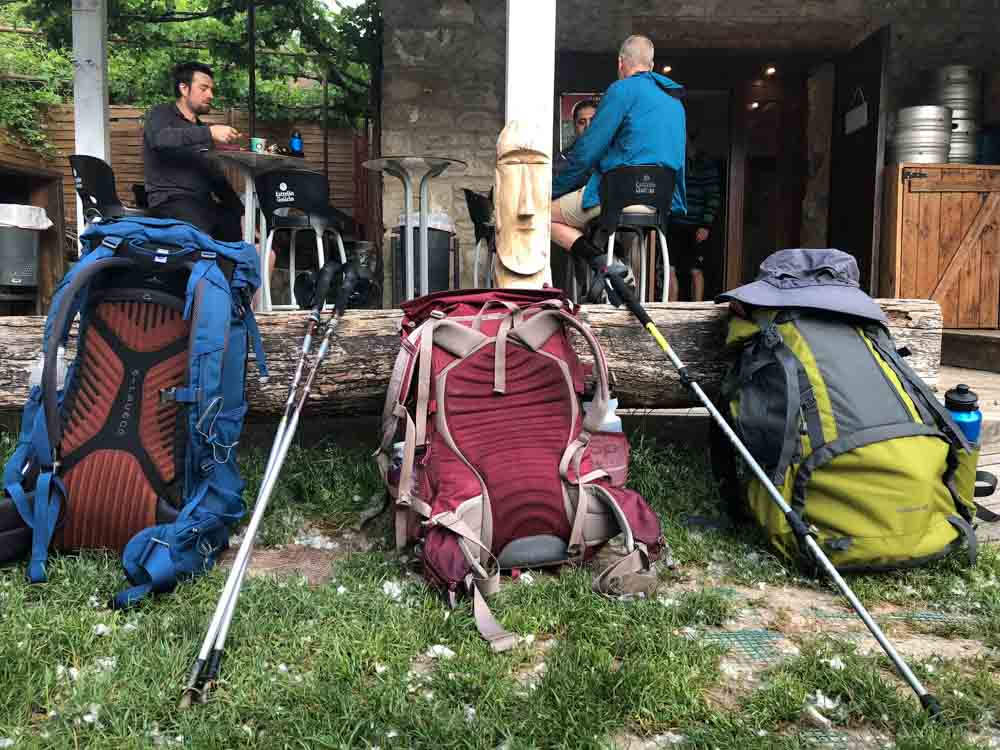 Spain Camino de Santiago backpacks