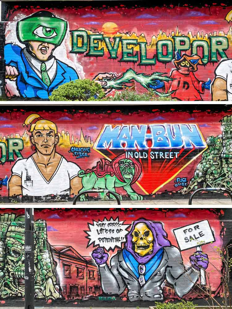 He Man murals Shoreditch london