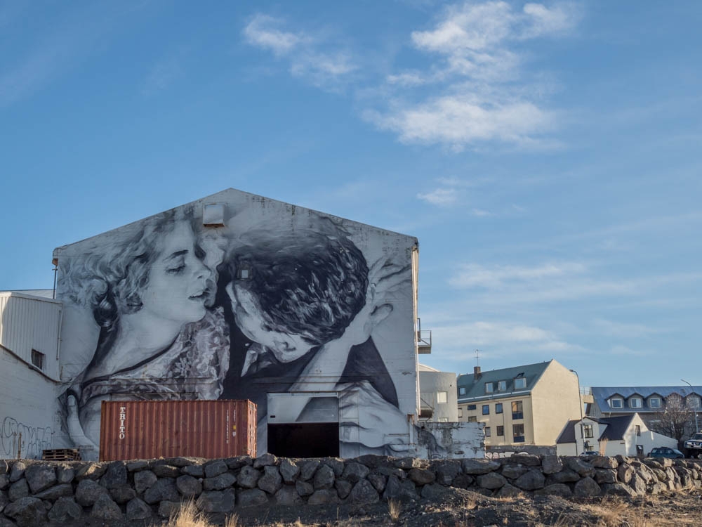 Photorealistic mural in Reykjavik by Guido