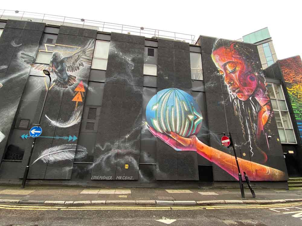 London Shoreditch street art Mr Cenz