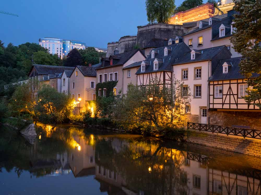 Is Luxembourg worth visiting? It is for this view of the Grund at night.