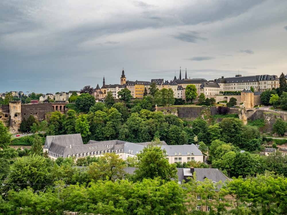 View of Luxembourg City on a city break