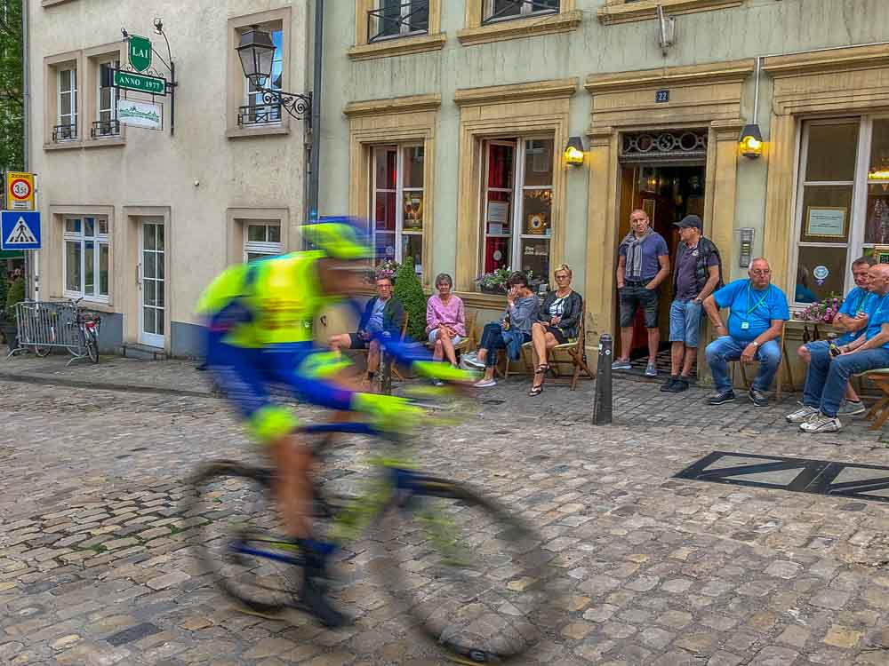 Luxembourg bike race in the Grund