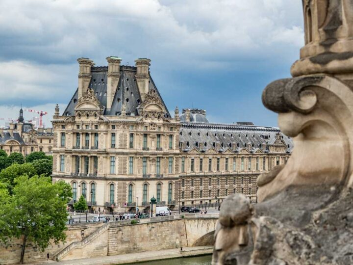 Paris four day itinerary: View of the Louvre