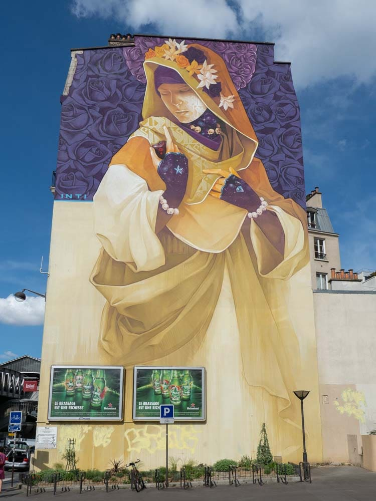 Madonna mural in Paris by Inti