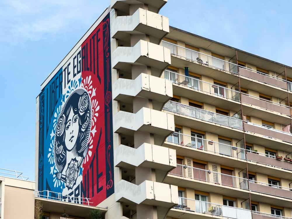 Paris mural Shepard Fairey 13th arrondissement