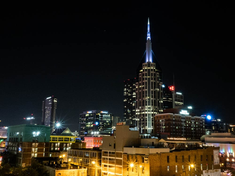 Nashville in 3 days: See the night skyline
