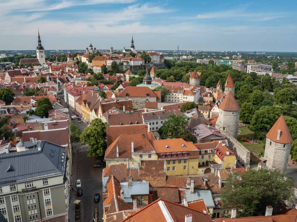 View of Tallinn Old Town from St Olafs