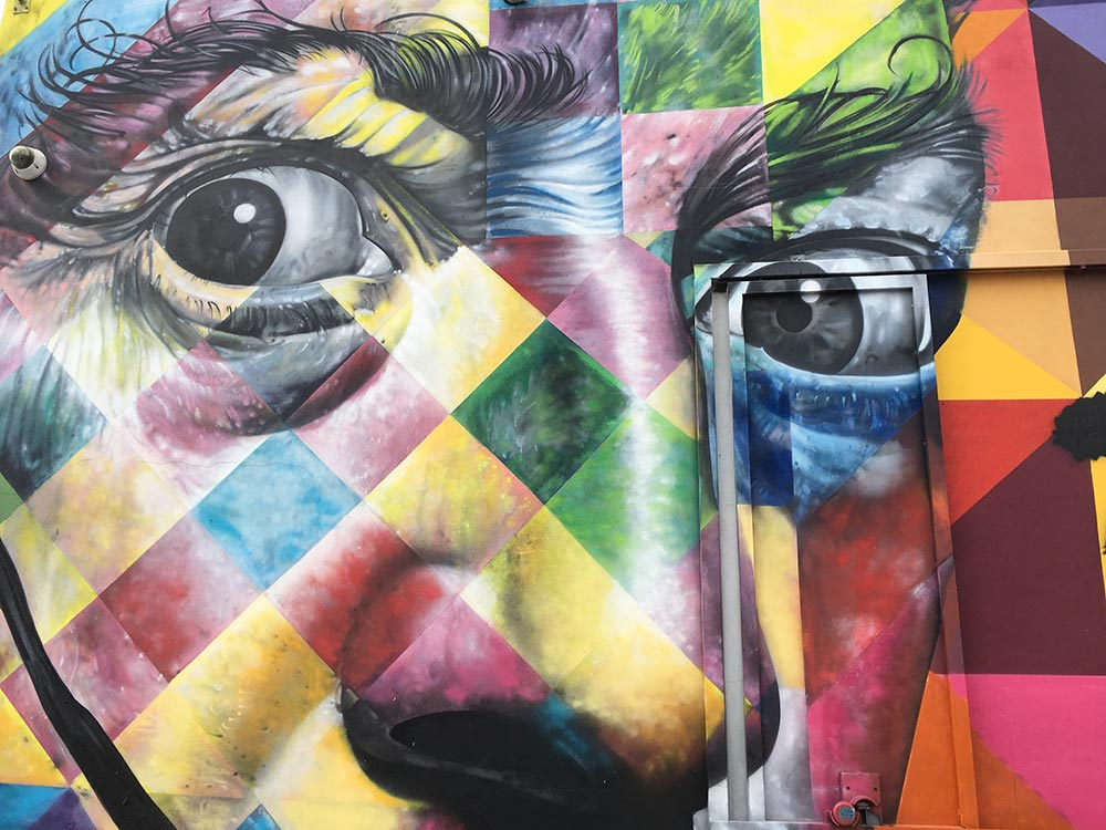 Best street art city: Eduardo Kobra mural Wynwood Walls in Miami
