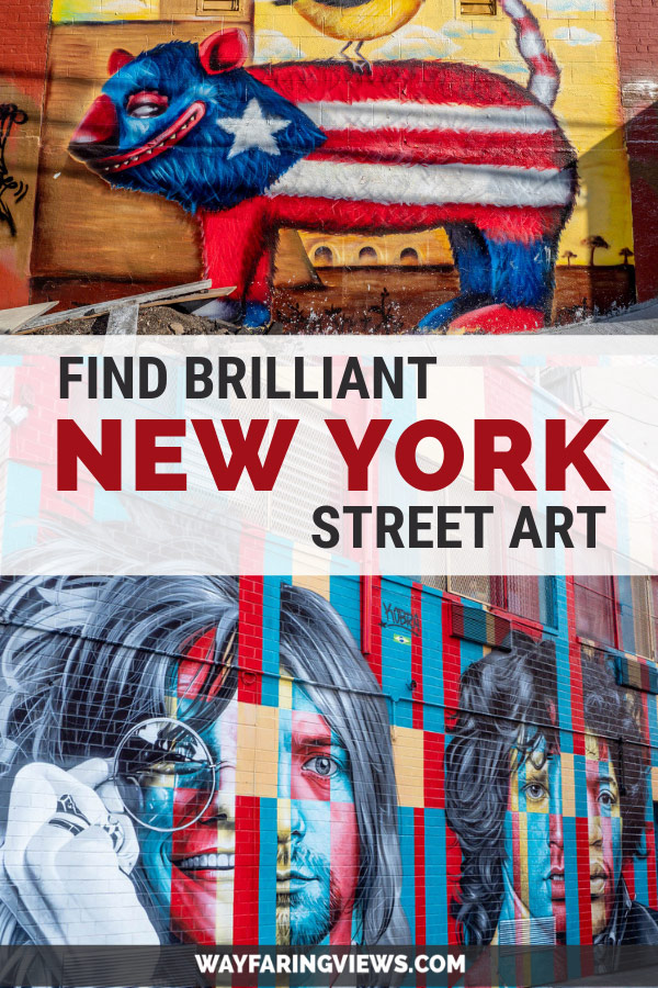 Find the best street art in NYC. This tour covers Brooklyn, Manhattan, MOSA and it includes a free map.