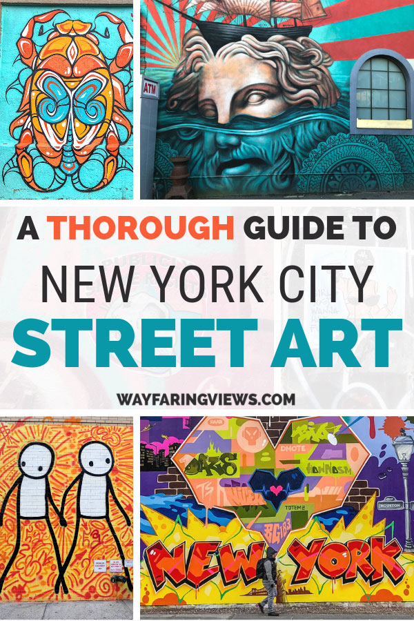 Take a tour of street art in New York that covers Brooklyn and Manhattan. This NYC mural guide includes a free map.