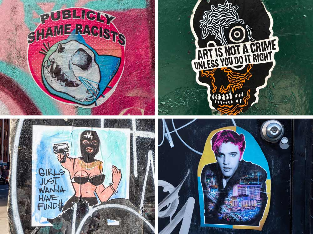 New York street art stickers