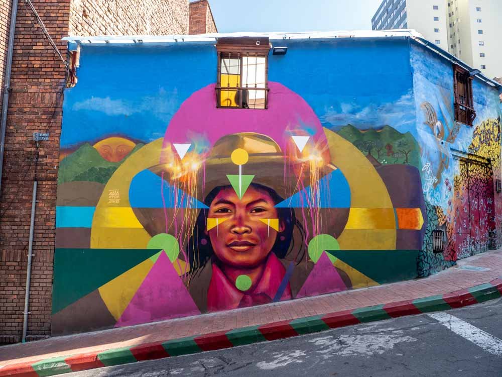 Bogota colombia mural by Guache