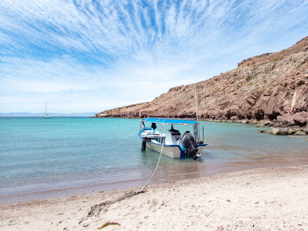 Isla Partida beach near La Paz Mexico
