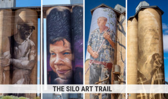 Silo Art Trail Victoria Australia. Four murals on grain silos
