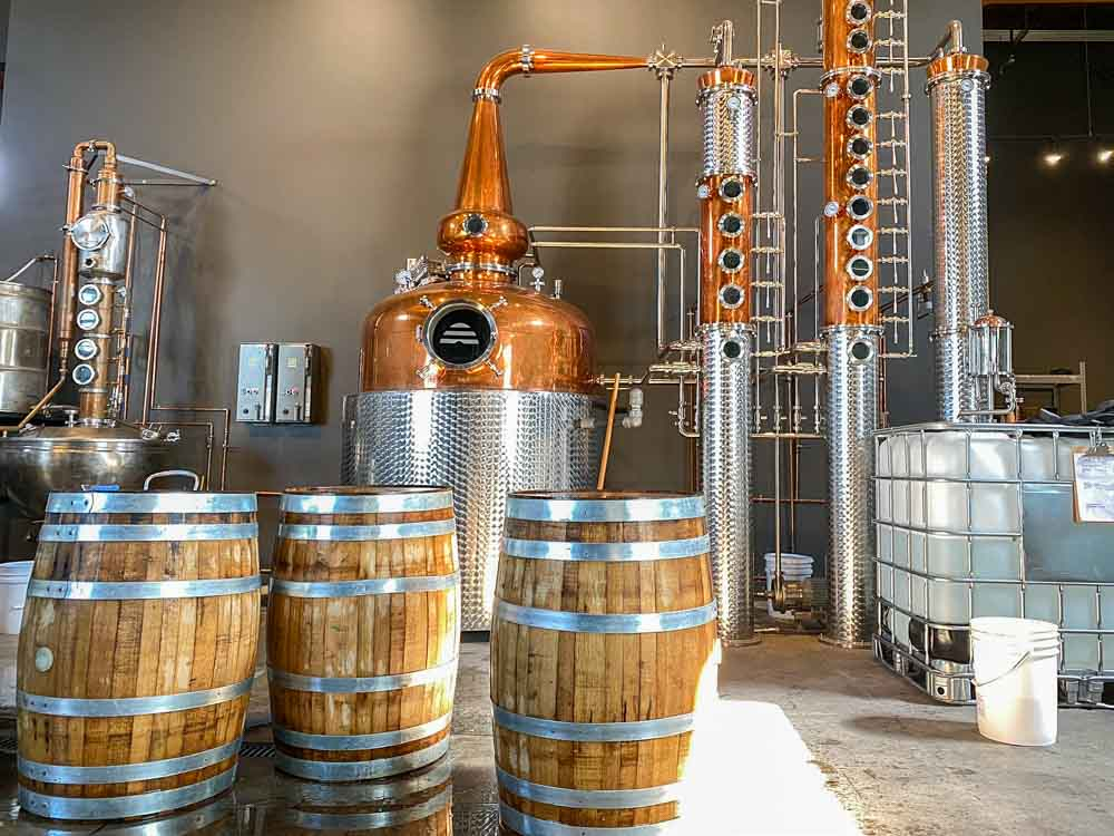 The vodka still at Beehive Distillery