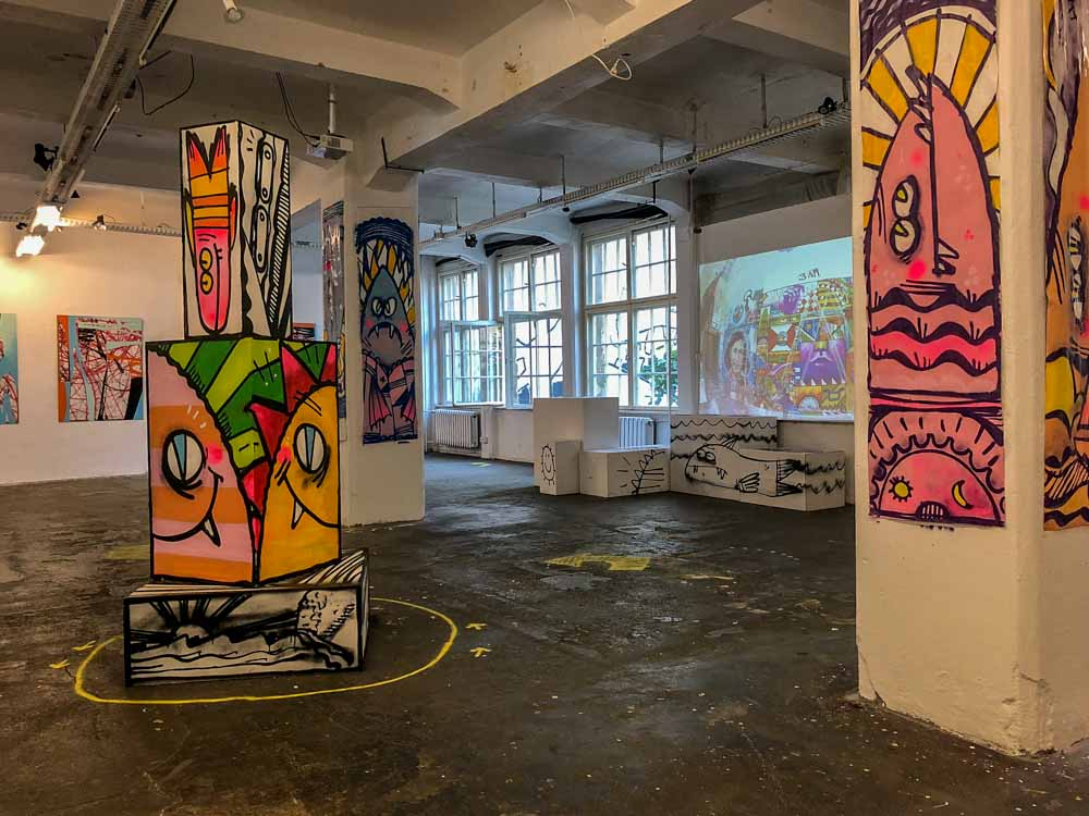 Berlin Neurotitan urban art gallery with street art and exhibits