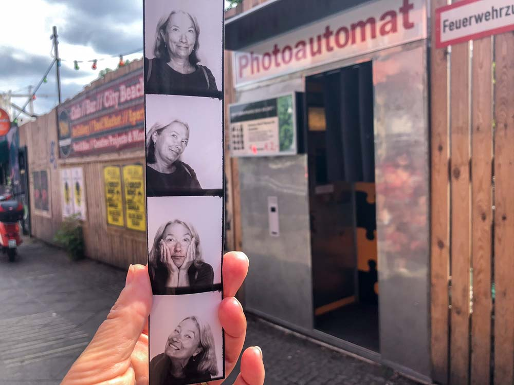 Cool things to do in Berlin - photoautomat booth with strip of pictures