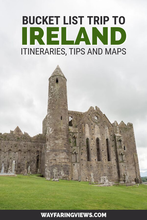 Ireland Road trip itineraries map and planner