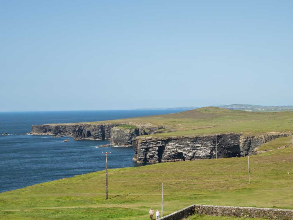 Ireland's Loop Head Peninsula cliff tops with ocean view