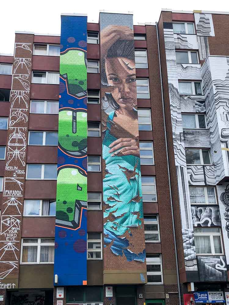 Berlin mural in Shoenberg by Bullough, 1UP and Berlin Kidz