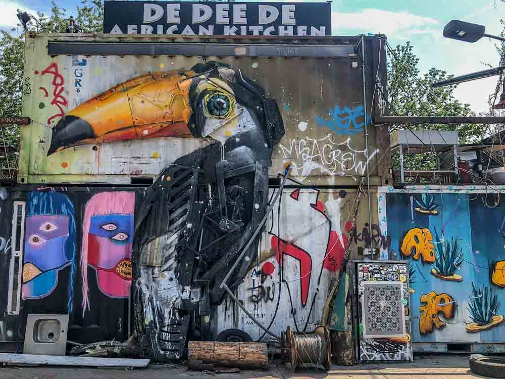 Berlin street art Urban Spree Toucan art BordalloII