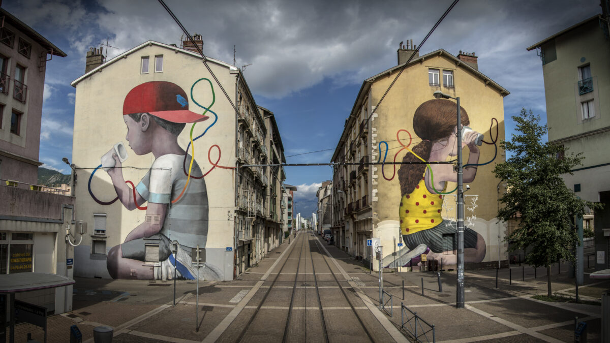 France Grenoble Alps Street Art Festival Seth Mural
