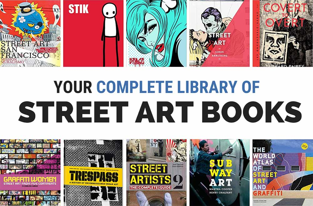 Collection of Street Art Graffiti Books
