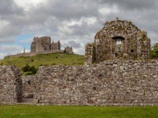 Ireland travel tips: Rock of Cashel in the distance