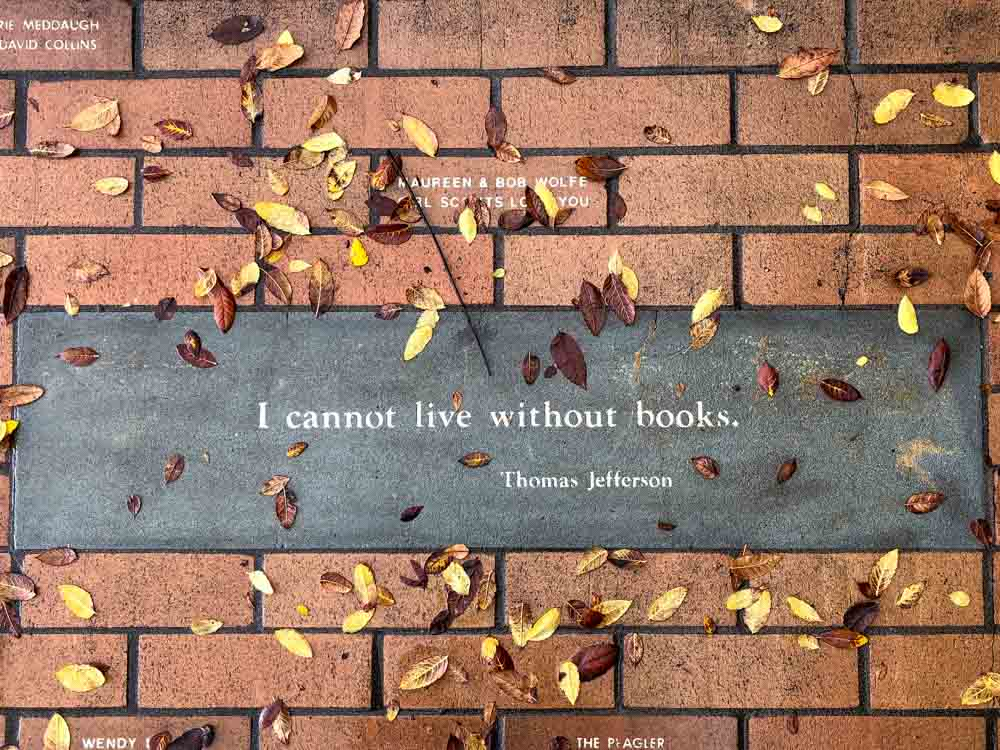 Book quote Thomas Jefferson Cannot live without books