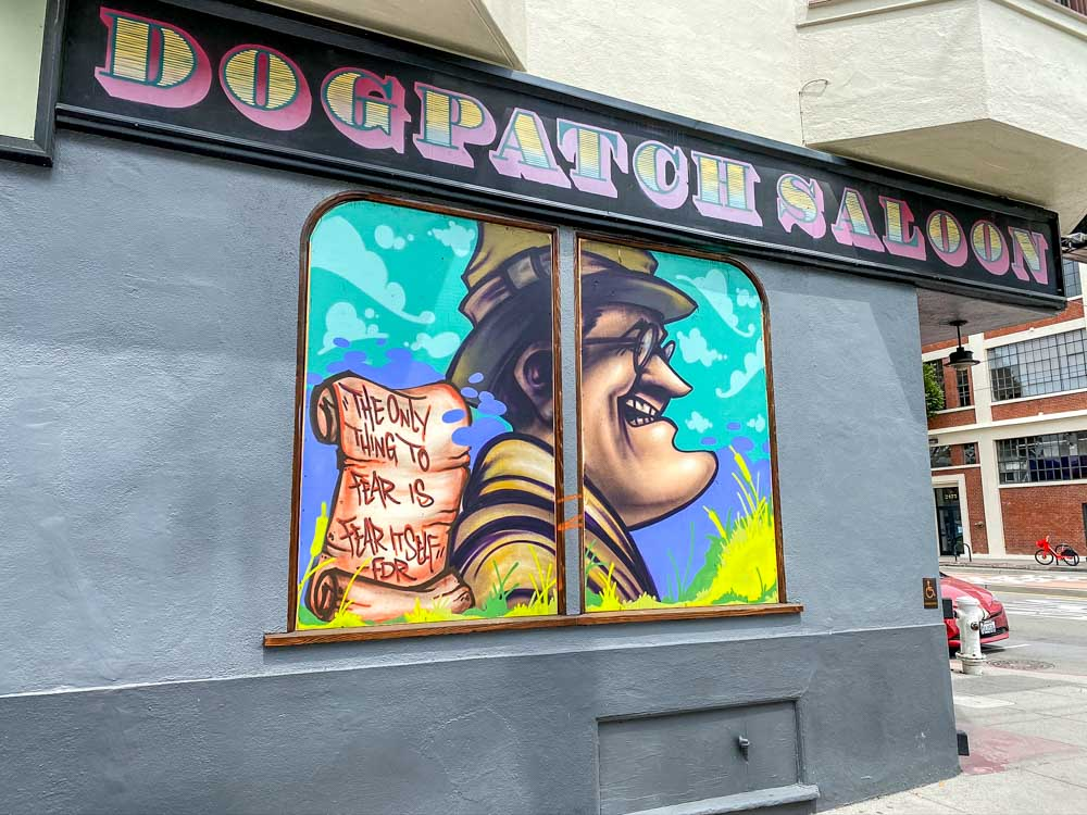 Sanfrancisco Street art FDR mural in dogpatch