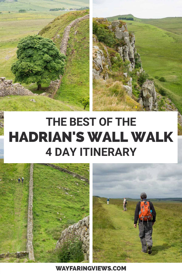 Hadrian's wall path four day itinerary