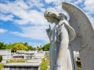 Key West cemetery statue