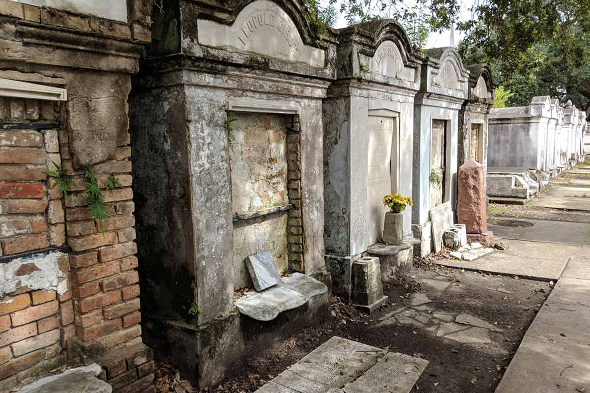 Lafayette Cemetery tombs in New Orlean