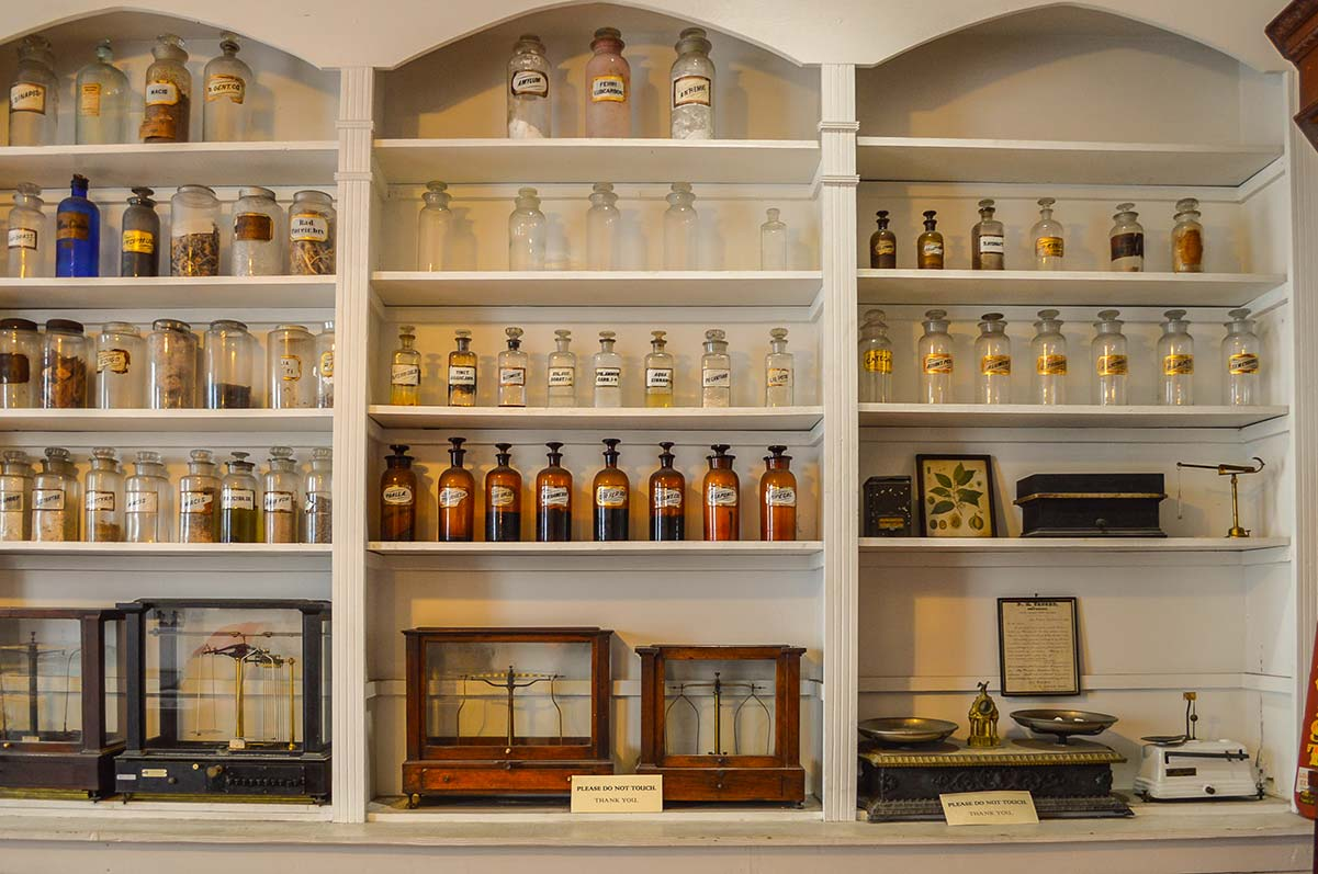 New Orleans pharmacy museum . bottles and jars