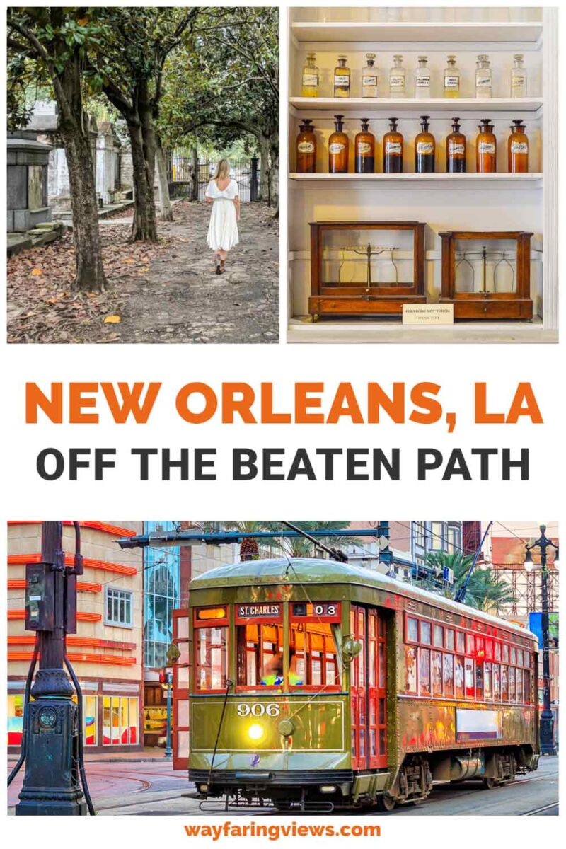 Off the beaten path New Orleans. Tram and cemetery